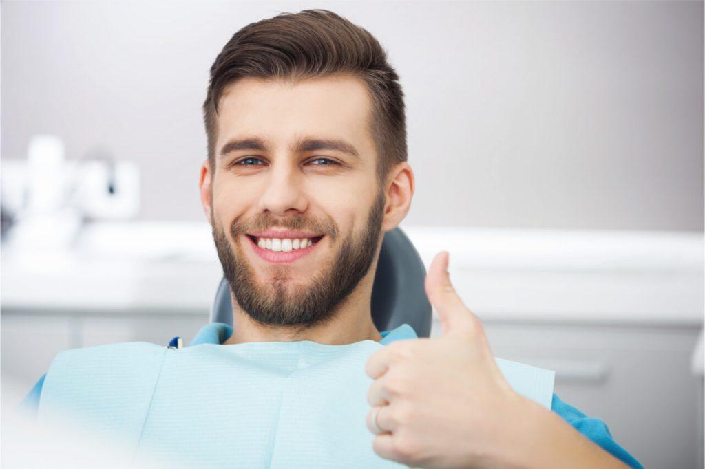 The man will get a dental restoration.